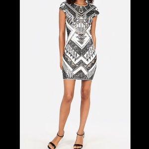 Express - short sleeve sequin dress